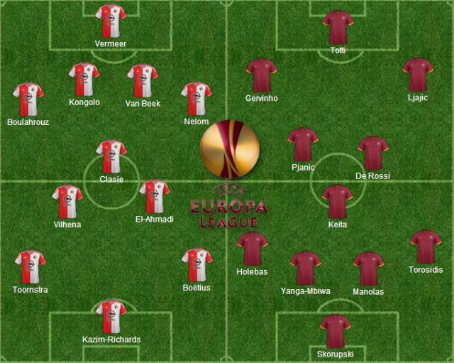 Formazioni ufficiali Feyenoord-Roma