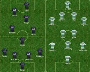 Le formazioni ufficiali di Inter-Celtic