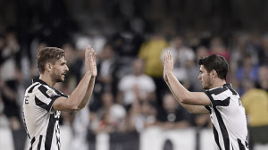 Morata e Llorente, coppia d'attacco per la Juventus contro il Cesena