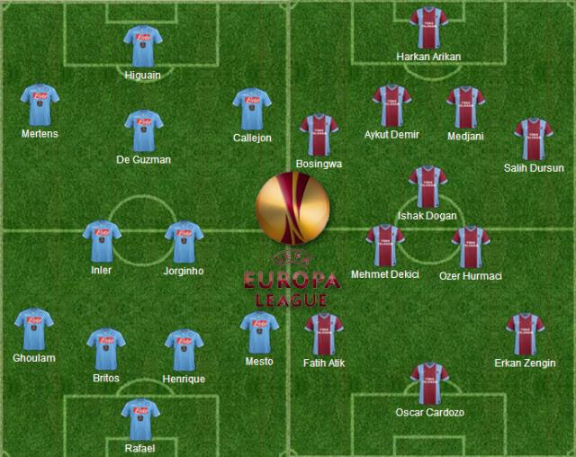 Formazioni ufficiali Napoli-Trabzonspor