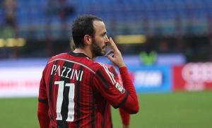 Pazzini, autore del 2-0 contro il Cesena