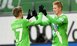 Andrè Schurrle e Kevin De Bruyne, le due stelle del Wolfsburg