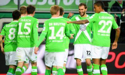 Il Wolfsburg, avversaria dell'Inter negli ottavi di Europa League