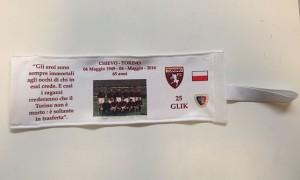 La fascia da capitano commemorativa di Kamil Glik