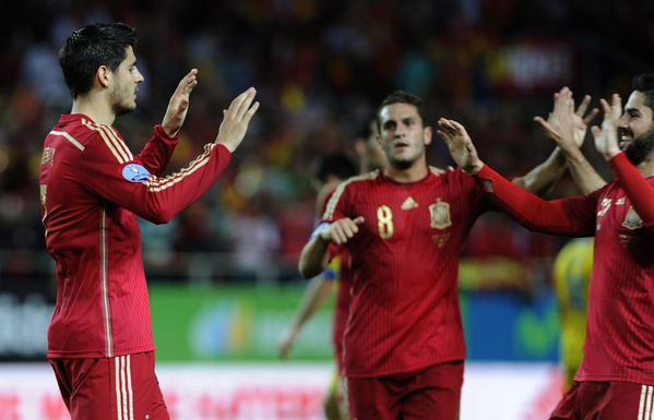 Spagna-Ucraina 1-0, Morata