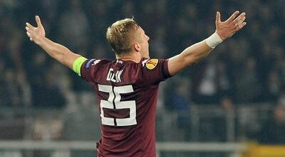 E' Glik l'autore dell'inutile gol vittoria in Torino Zenit.