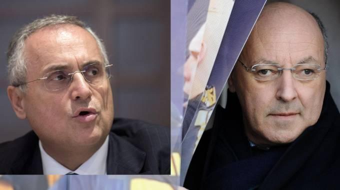 Claudio Lotito e Giuseppe Marotta