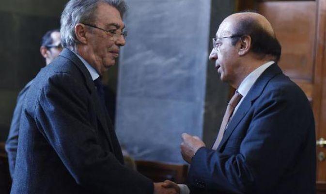 Luciano Moggi e Massimo Moratti