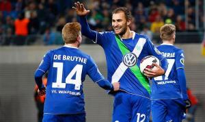 De Bruyne e Dost, due giocatori fondamentali nell'attacco del Wolfsburg