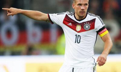 Lukas Podolski, attaccante della Germania e dell'Inter