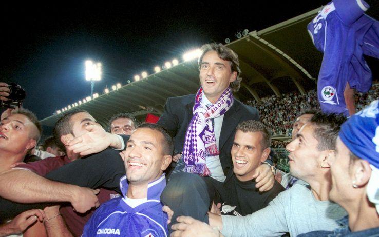 Mancini allenatore della Fiorentina 2000/01.