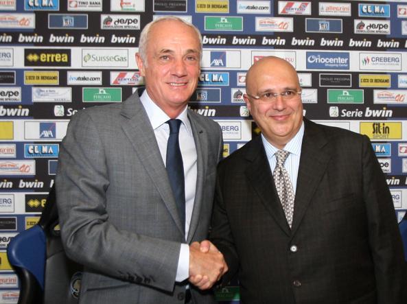 Antonio Percassi e Pierpaolo Marino, presidente e direttore generale dell'Atalanta