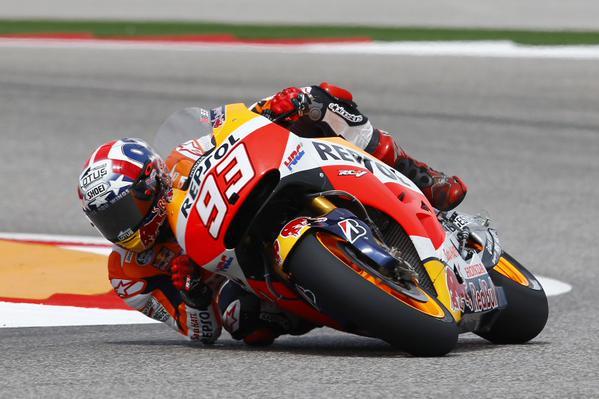 MotoGP, Austin: Marquez ancora in vetta nella terza sessione di libere