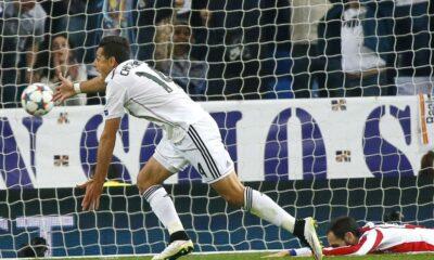 Chicharito Hernandez, autore della rete decisiva contro l'Atletico Madrid