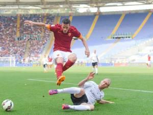 Alessandro Florenzi, uno dei migliori in campo nella formazione di Garcia