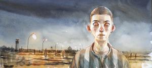 GIPI: illustrazione per Domandatemi di Auschwitz art di Giovanni Di Lorenzo intervista di Renate Lasker-Harpprecht, 2014 courtesy ufficio stampa museo Luzzati