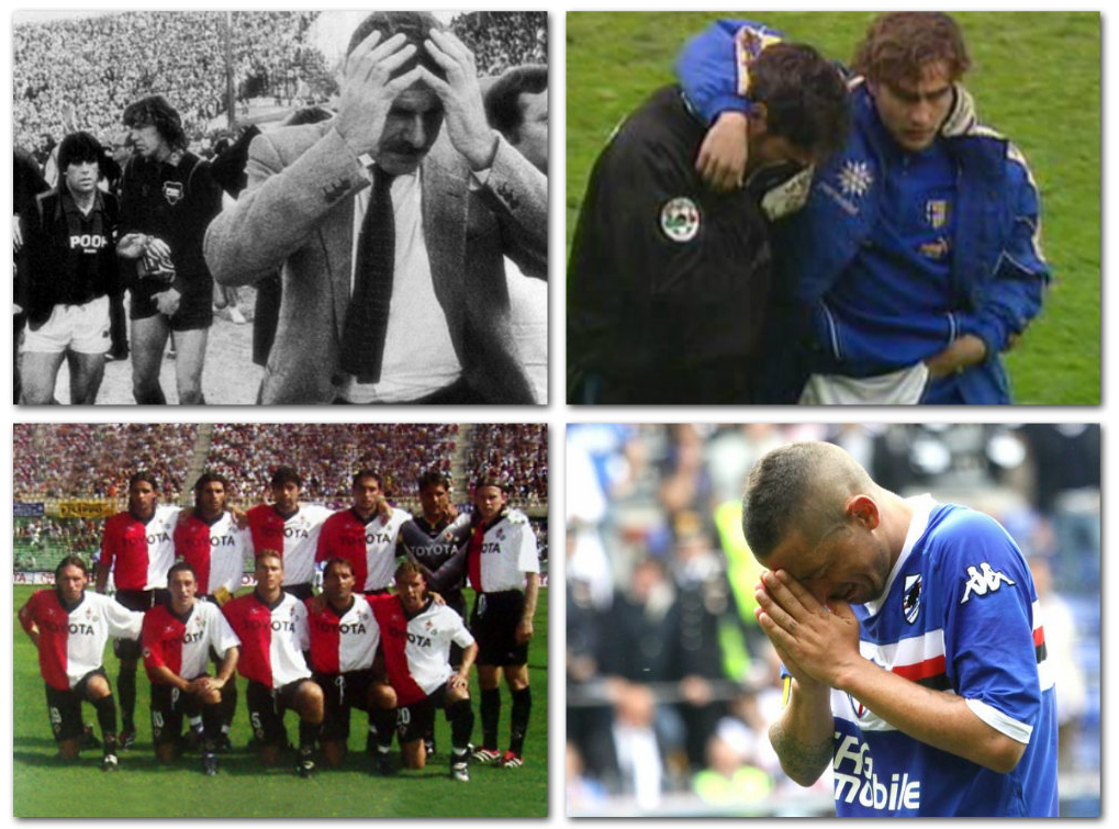 Le 10 retrocessioni più drammatiche della storia della Serie A