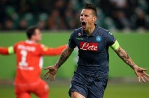 Marek Hamsik, doppietta nel match tra Napoli e Wolfsburg