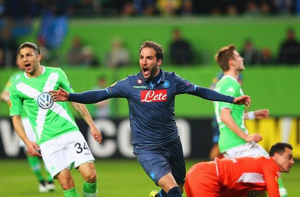 Higuain, Wolfsburg-Napoli