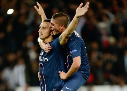 Ibrahimovic e Verratti remuntada PSG.