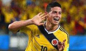 James Rodriguez, asso della nazionale colombiana