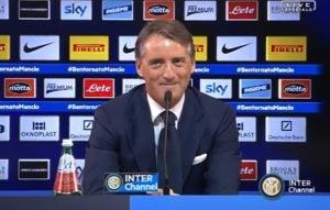 Roberto Mancini in conferenza stampa prima del match dell'Inter contro il Parma