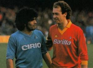 Maradona e Falcao, protagonisti negli anni '80.