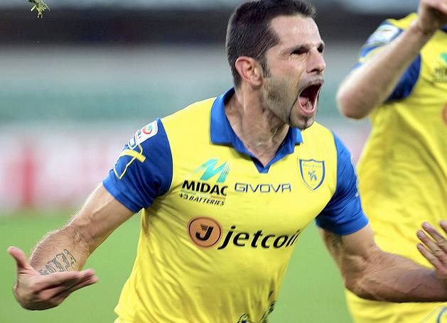 Sergio Pellissier, protagonista della 30a giornata di Serie A