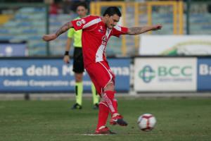Mauricio Pinilla  con la maglia del Grosseto nella sua miglior stagione a livello realizzativo