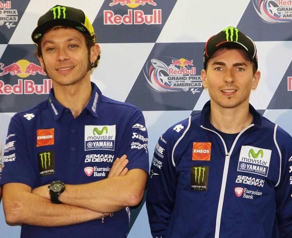 Rossi e Lorenzo nella conferenza pre-Austin