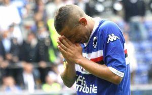 Le lacrime di Palombo dopo la retrocessione della Sampdoria