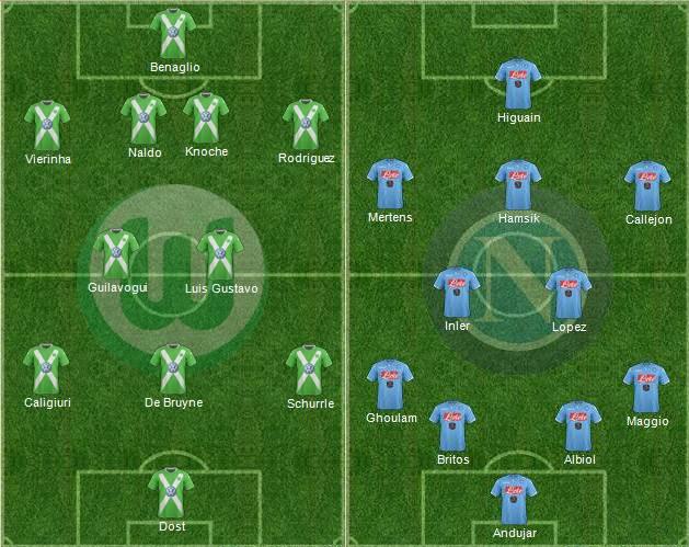 Formazioni ufficiali Wolfsburg-Napoli