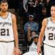 Tim Duncan e Manu Ginobili, veterani dei San Antonio Spurs
