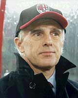 Arrigo Sacchi ai tempi del Milan