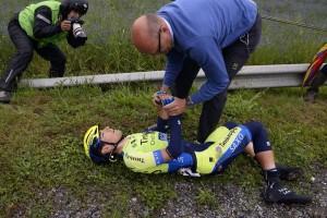 Alberto Contador fu costretto al ritiro dal Tour di un anno fa