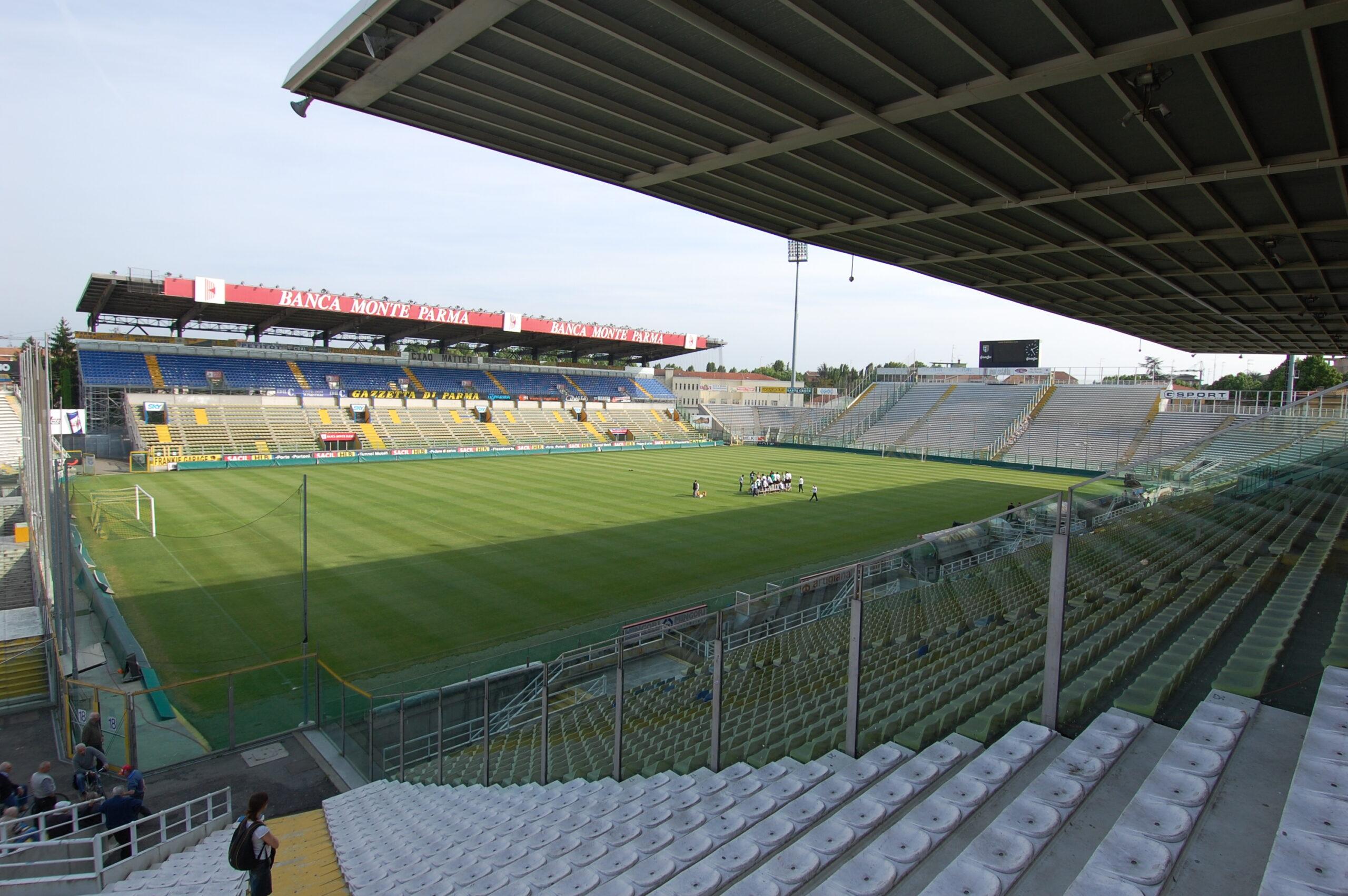 Tardini vuoto, l'immagine desolante del Parma.