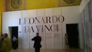 Leonardo da Vinci ingresso esterno Palazzo Reale