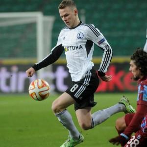 Ondrej Duda in azione con la maglia del Legia Varsavia