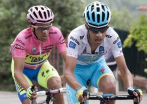 Fabio Aru e Alberto Contador, protagonisti del Giro d'Italia