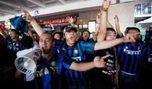 Tifosi dell'Inter in Asia