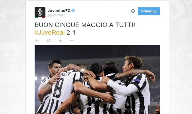 Tweet Juventus