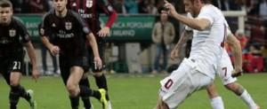 Inutile il gol su rigore di Francesco Totti. Il Milan s'impone 2-1.