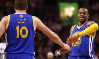 David Lee e Andre Iguodala, entrambi decisivi dalla panchina in questa Gara 5 di Playoff Nba