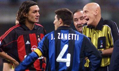 Paolo Maldini e Javier Zanetti, capitani storici di Milan e Inter