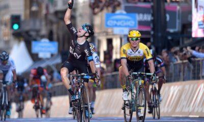 Elia Viviani, vincitore della seconda tappa del Giro d'Italia