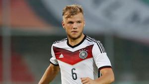 Geis con la maglia della Germania Under 21.