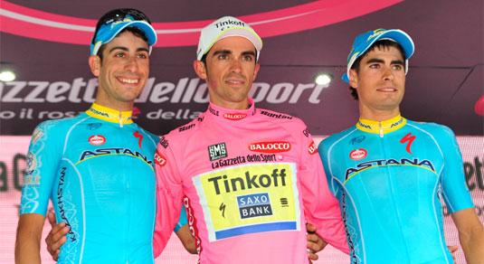 Il podio del Giro 2015