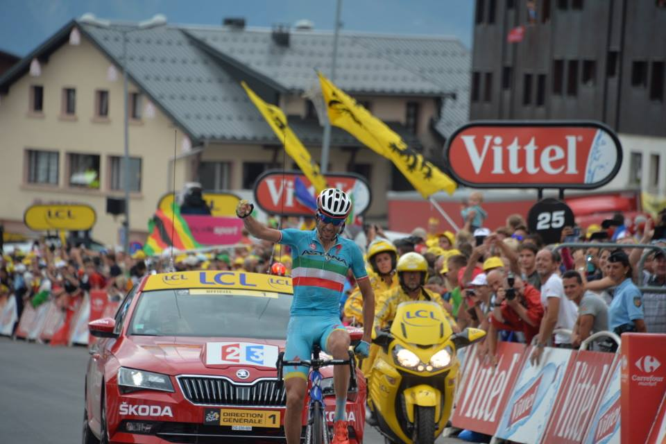 Vincenzo Nibali vittoria tappa Tour.