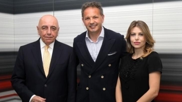 Galliani, Mihajlovic e Barbara Berlusconi Milan