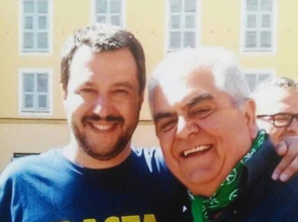 Sandro Zaffiri con Matteo Salvini